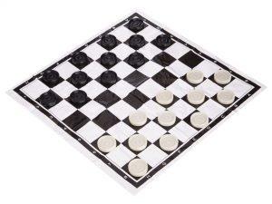 Запасные фигурки для шашек с полотном для игр (пластик, d шашки-2,8см)