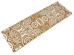 Коврик для йоги Замшевый каучуковый двухслойный 3мм Record (размер 1,83мx0,61мx3мм, бежевый)