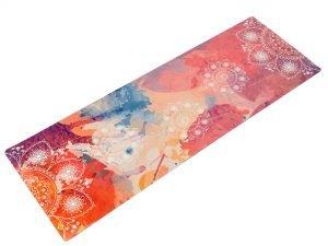 Коврик для йоги Замшевый каучуковый двухслойный 3мм Record (размер 1,83мx0,61мx3мм, лиловый)