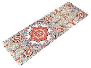 Коврик для йоги Замшевый каучуковый двухслойный 3мм Record (размер 1,83мx0,61мx3мм, красный)