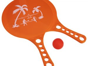 Набор ракетки и мячик для пляжного тенниса (пластик, размер 33,5×20см, 2 ракетки + 1 мячик)