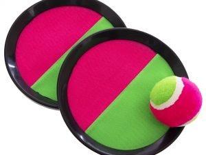 Набор Кетчбол с липучкой (тарелка 2шт d-18,5см, 1 мяч, пластик, PVC)