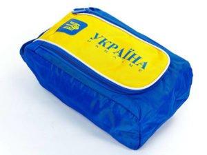 Сумка для обуви Украина (PL, р-р 33х18х12см, синий-желтый)