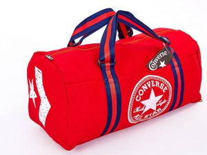 Сумка для спортзала Бочонок CONV с отделением для обуви (PL, р-р 44х21х24см, цвета в ассортименте) - Цвет Красный