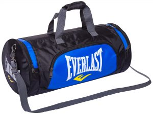 Сумка для спортзала Бочонок ELAST (полиэстер, р-р 55х28х28см, цвета в ассортименте) - Цвет Синий