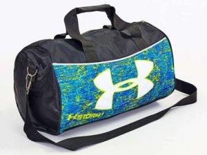 Сумка для спортзала Бочонок UNDER ARMOUR (полиэстер,р-р 43х22х24см, цвета в ассортименте) - Цвет Голубой