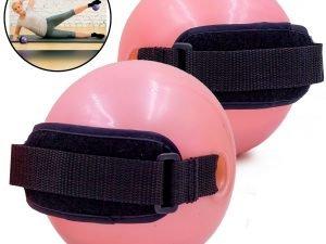 Мяч утяжеленный с манжетом (2×0,5LB) Pro Supra WEIGHTED EXERCISE BALL (резина, d-11, розовый)