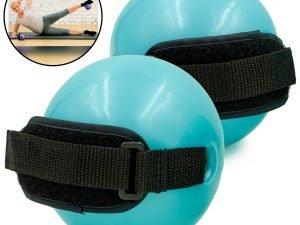 Мяч утяжеленный с манжетом (2x1LB) Pro Supra WEIGHTED EXERCISE BALL (резина, d-11, голубой)