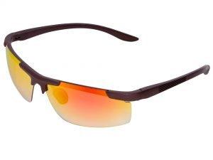 Очки спортивные солнцезащитные (пластик, акрил,  цвета в ассортименте) - Цвет Кофе