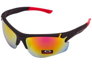 Очки спортивные солнцезащитные OAKLEY (пластик, акрил, цвета  в ассортименте) - Цвет Красный