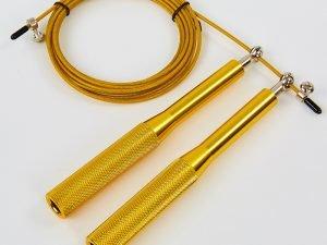Скакалка скоростная Кроссфит с подшипником и стальным тросом с алюминиевыми ручками CIMA (l-3м, d-3мм, цвета в ассортименте)) - Цвет Золото