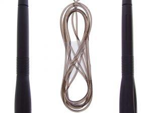 Скакалка скоростная с подшипником и PVC жгутом (l-2,6м, d-5мм, цвета в ассортименте)