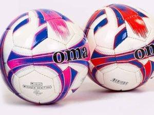 Мяч футбольный №4 DX JM JM-4-1-PU белый (5 сл., сшит вручную, цвета в ассортименте) (Replica)