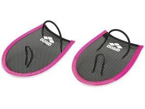 Лопатки для плавания гребные ARENA FLEX PADDLES (полиэстер, силикон, сталь, цвета в ассортименте) - Цвет Розовый