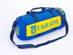 Сумка для тренировок с национальной украинской символикой UKRAINE (53х25см,желтый-голубой)