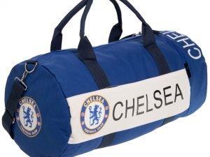 Сумка для тренировок с символикой футбольного клуба CHELSEA (р-р 53х25см, синий-белый)