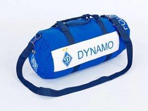 Сумка для тренировок с символикой футбольного клуба DYNAMO KYIV (р-р 53х25см, голубой-бел)