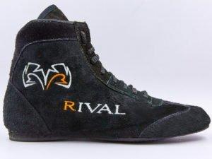 Борцовки замшевые RIV (р-р 35-44) (верх-замша, низ-нескользящая резина, черный) - Черный-37