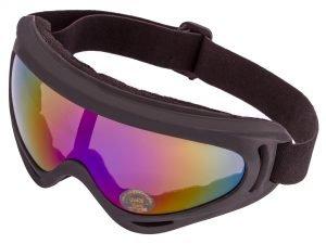 Очки тактические затемненный визор (пластик, акрил, цвет оправы – черный)
