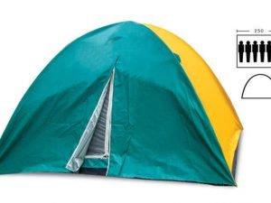 Палатка кемпинговая 6-и местная с тентом (р-р 2,2х2,5х1,5м, PL)