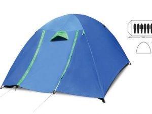 Палатка кемпинговая 6-и местная с тентом и коридором (р-р 2,2х2,5х1,5м, PL)