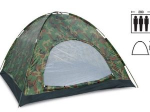 Палатка универсальная 3-х местная (р-р 2х2х1,35м, PL, камуфляж Woodland)