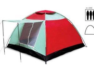 Палатка универсальная 3-х местная с тамбуром (р-р 2х2х1,35м, PL)