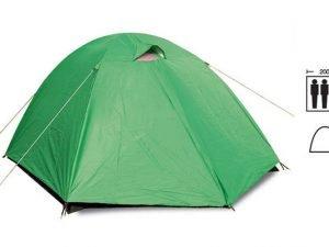 Палатка универсальная 3-х местная с тентом (р-р 2х2х1,35м, PL)