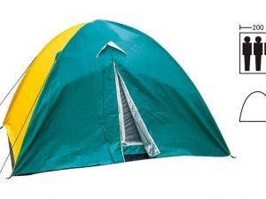 Палатка универсальная 3-х местная с тентом (р-р 2х2х1,35м, полиэстер)