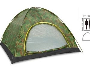 Палатка универсальная самораскладывающаяся 2-х местная (р-р 2х1,5х1,1м, PL, камуфляж)