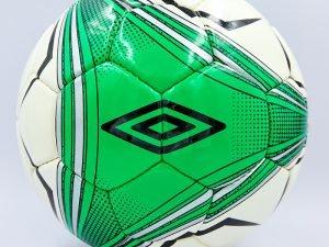 Мяч футбольный №5 DX UMB (№5, 5 сл., сшит вручную, цвета в ассортименте) - Цвет Белый-зеленый