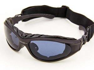 Тактические очки Oakley солнцезащитные (пластик, акрил, резинка шнурок, черный)