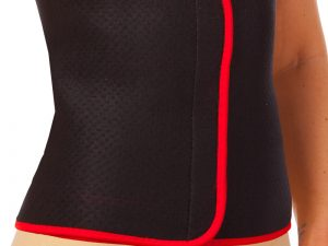 Пояс для похудения (80% неопрен, 20% эластан, р-р XL- 28см x 115см x 3мм, черный-красный)