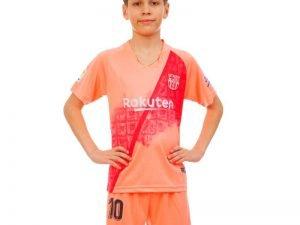 Форма футбольная детская BARCELONA MESSI 10 резервная 2019 SP-Planeta (р-р 20-28 6-14лет, 110-155см, розовый-красный) - 22, возраст 8лет, рост 120-125