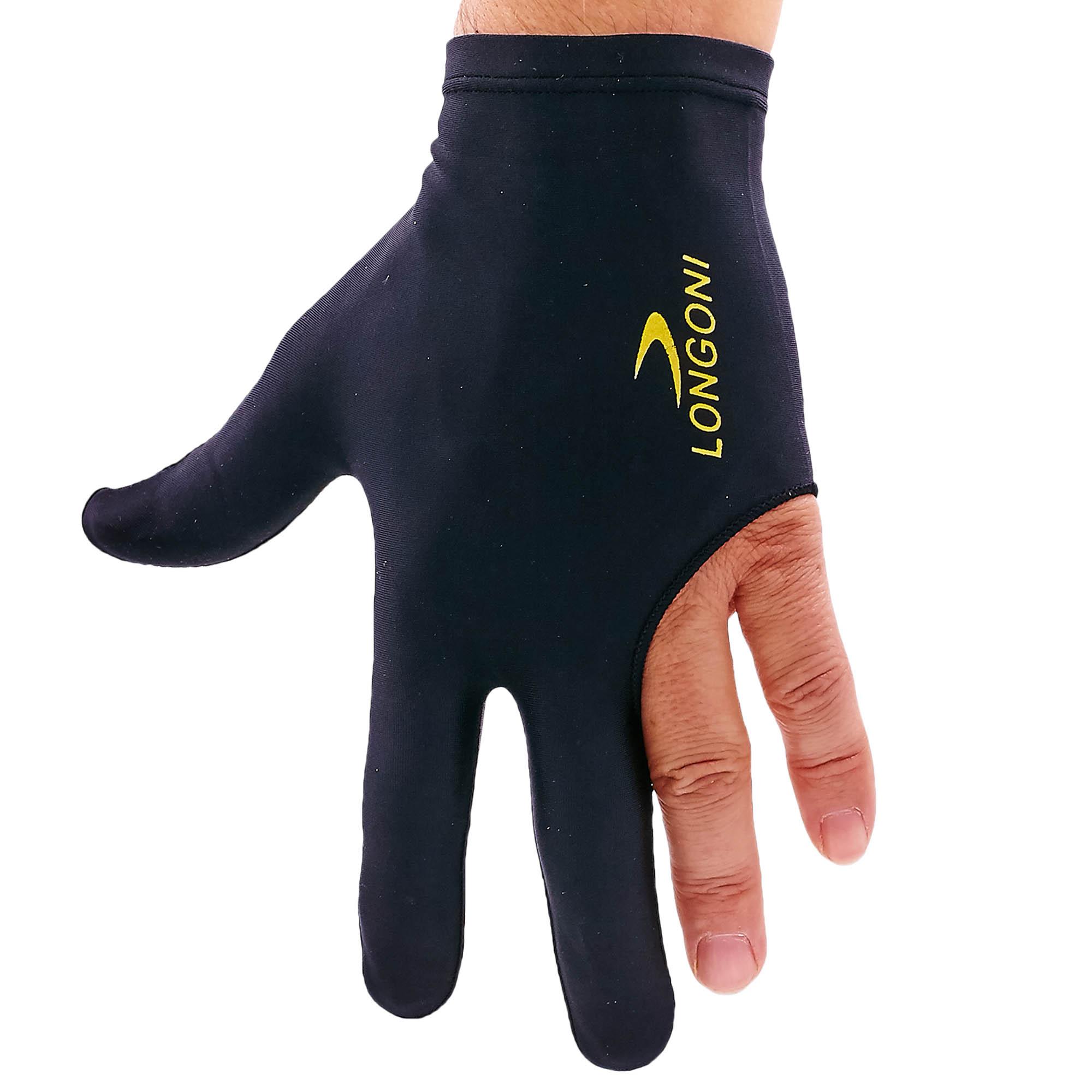 Перчатка бильярдная (1шт) (нейлон, эластан, черный, в уп.-2шт, цена за 1шт)