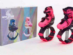 Ботинки на пружинах Фитнес джамперы NewStar Kangoo Jumps (полиэстер, пластик, размер 35-42, розовый) - 35-38