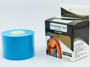 Кинезио тейп в рулоне 5см х 5м (Kinesio tape) эластичный пластырь (бежевый, синий, салатовый)