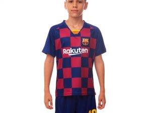 Форма футбольная детская BARCELONA домашняя 2020 SP-Planeta (р-р 22-30, рост 120-165см, синий-бодровый) - 22, возраст 8лет, рост 120-125