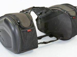 Мотосумка (2 кофра текстильных) KOMINE (PL, р-р 45х30х20см, черный)
