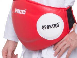 Пояс тренера Кожвинил SPORTKO UR ЗП1 (р-р M-XL, креп.на липуч., цвета в ассортименте) - Красный-L