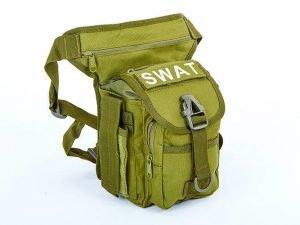 Сумка тактическая на бедро SILVER KNIGHT SWAT (нейлон, оксфорд 900D, размер 28х27х10см, цвета в ассортименте) - Цвет Оливковый