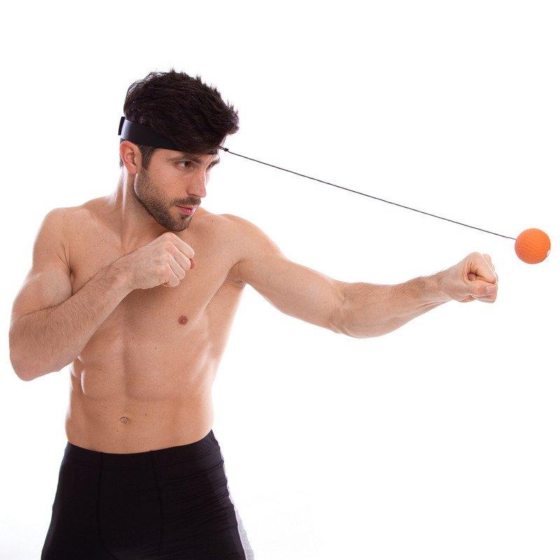 Тренажер для бокса fight ball (полиэстер повязка, мяч)