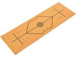 Коврик для йоги Пробковый каучуковый двухслойный 4мм Record (размер 1,83мx0,61мx4мм, пробковое дерево, каучук, с разметкой)