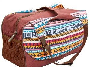 Сумка для фитнеса и йоги Yoga bag KINDFOLK (размер 19смх50х33см, полиэстер, хлопок, оранжевый-голубой)