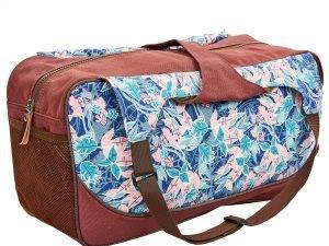 Сумка для фитнеса и йоги Yoga bag KINDFOLK (размер 19смх50х33см, полиэстер, хлопок, розовый-голубой)