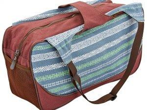 Сумка для фитнеса и йоги Yoga bag KINDFOLK (размер 19смх50х33см, полиэстер, хлопок, серый-синий)
