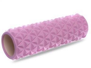 Роллер для занятий йогой и пилатесом Triangle l-45см (d-14см, l-45см, цвета в ассортименте) - Цвет Розовый