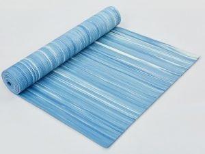 Коврик для фитнеса и йоги PVC 6мм SP-Planeta (размер 1,73мx0,61мx6мм, светло-голубой)