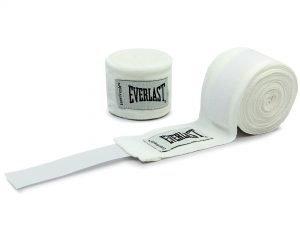 Бинты боксерские (2шт) хлопок с эластаном EVERLAST LEVEL 2 (l-4,50м, цвета в ассортименте) - Цвет Белый