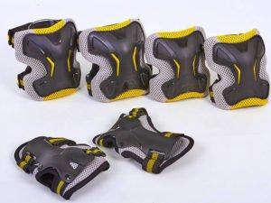 Защита для взрослых наколенники, налокотники, перчатки Zelart GRACE (р-р M-L, желтый) - L (16лет и старше)